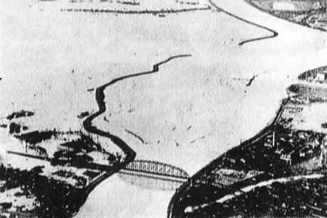 8月16日、巨椋池が再現(観月橋付近)