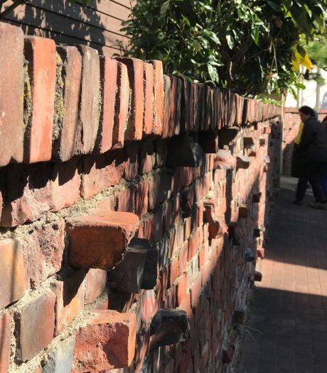 岸和田市内あちこちにある煉瓦の壁