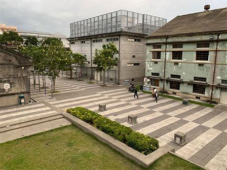 地震で閉鎖されている花蓮文化創造産業園区
