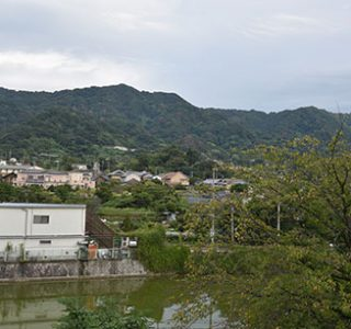 生駒山への眺め(八尾市)